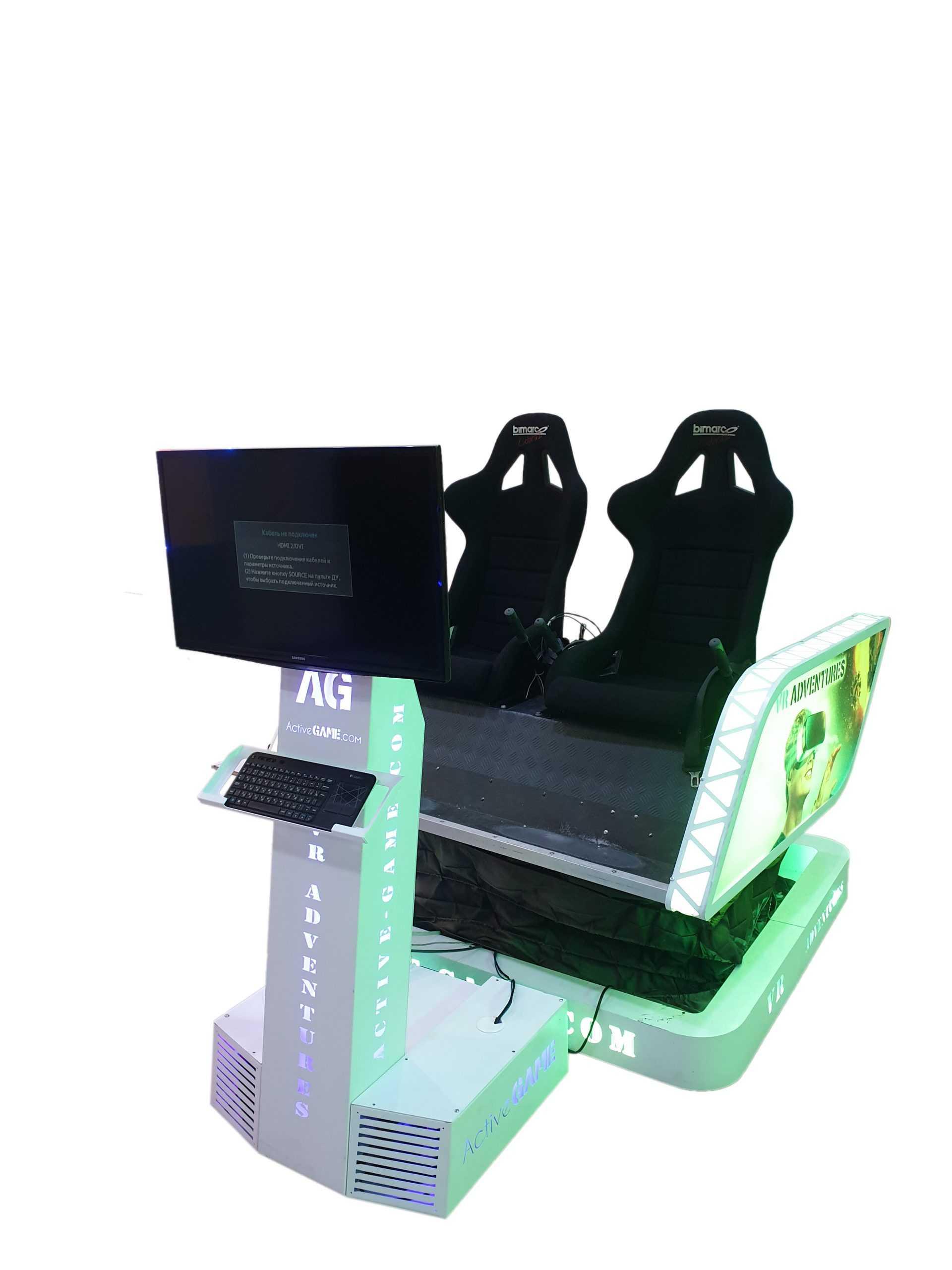 Double_Sim Full motion VR simulator 2dof, 3dof,4dof,6dof motion platform