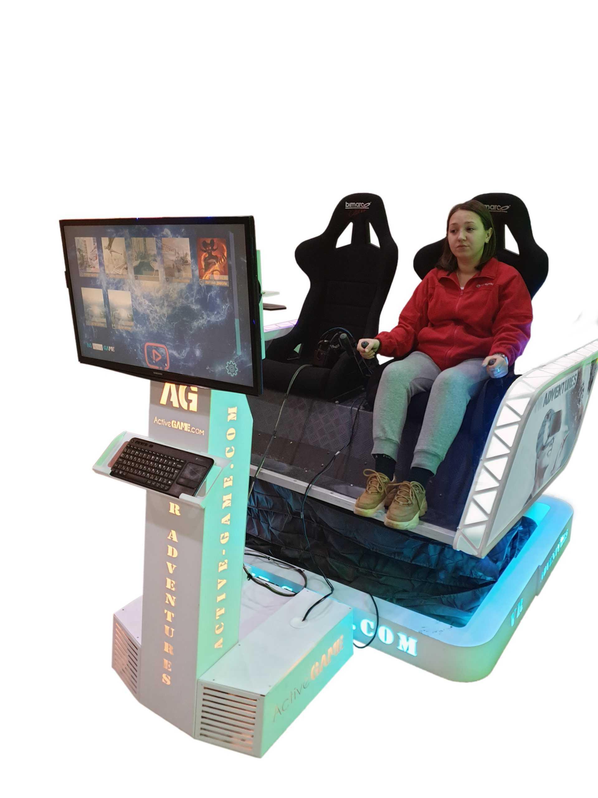 Double_Sim_3 Full motion VR simulator 2dof, 3dof,4dof,6dof motion platform