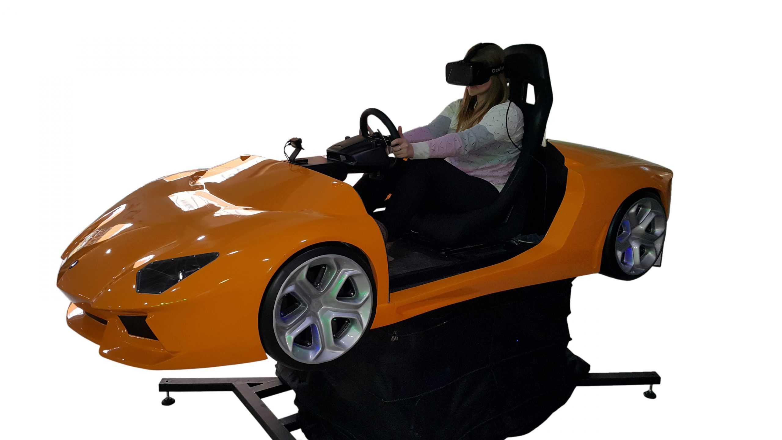 Full motion racing simulator 2dof, 3dof,4dof,6dof motion platform