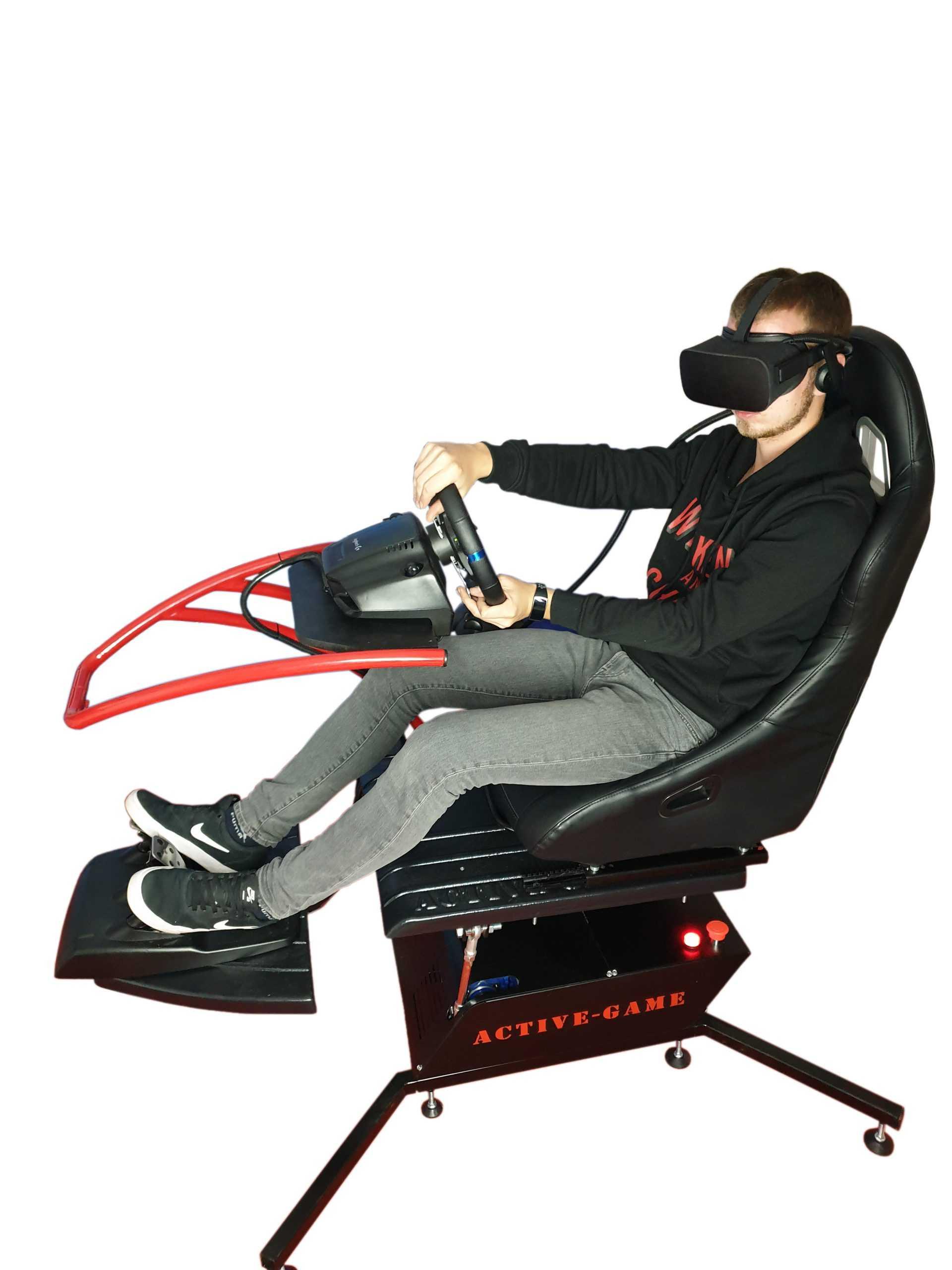 Mini_Red_3 Full motion affordable home simulator 2dof, 3dof,4dof,6dof motion platform