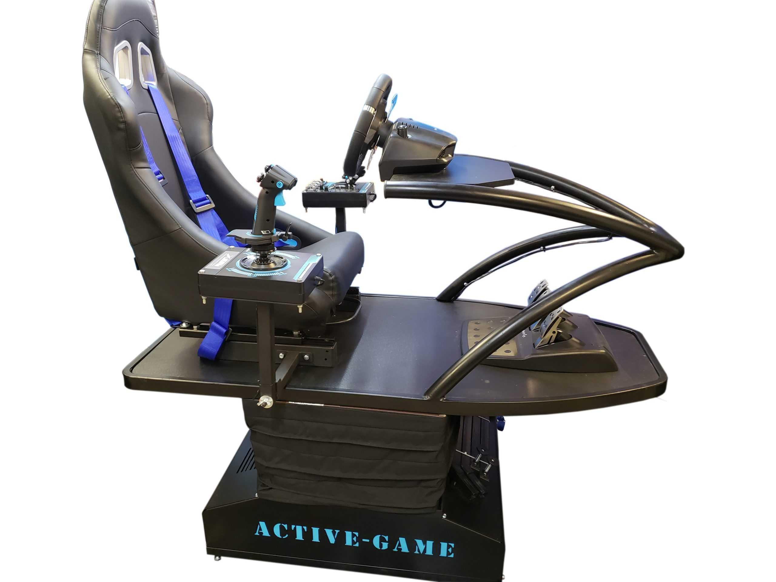 Supersim_Blue_4 Full motion flight simulator 2dof, 3dof,4dof,6dof motion platform