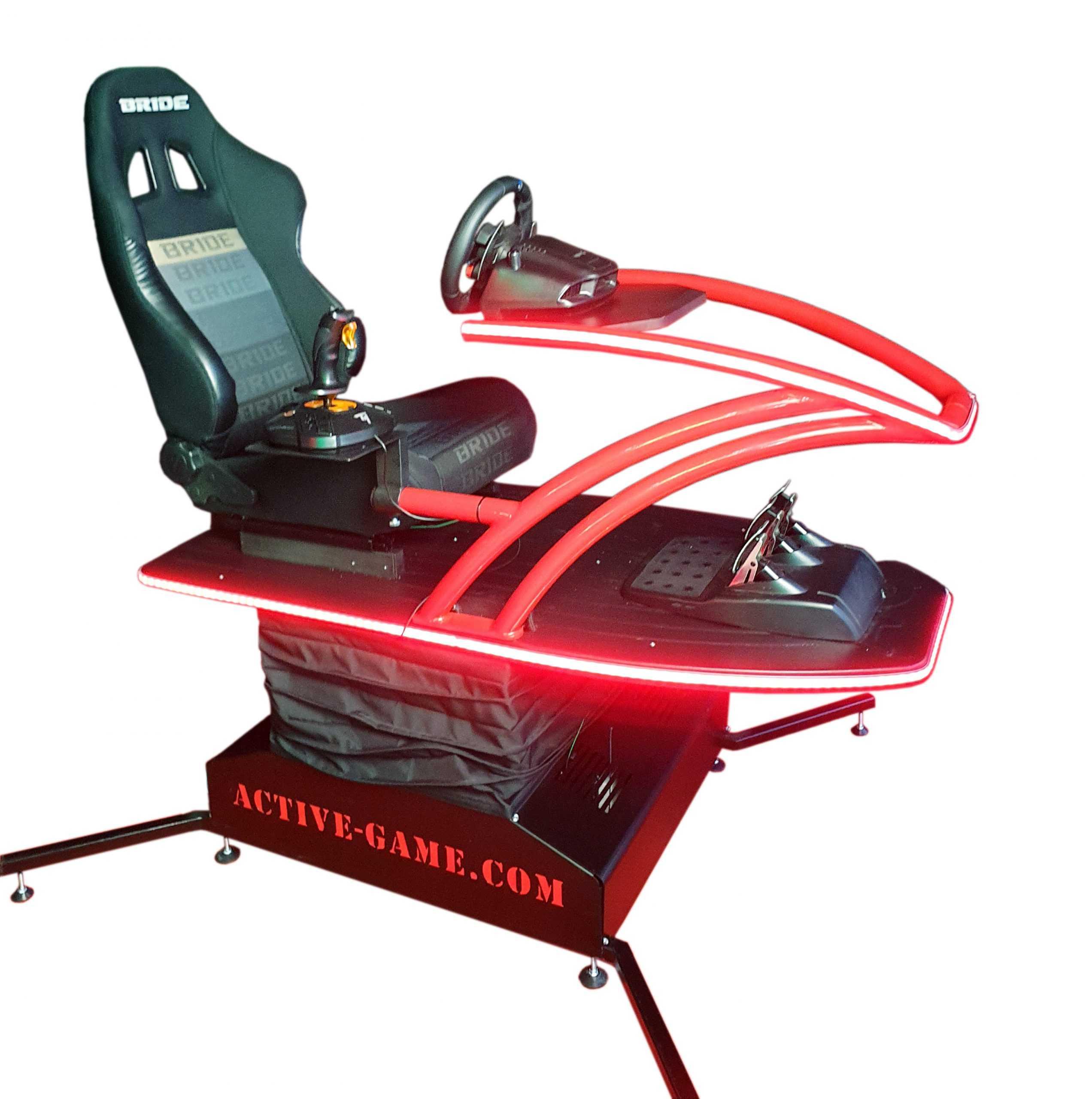 Supersim_Red _1 Full motion flight simulator 2dof, 3dof,4dof,6dof motion platform