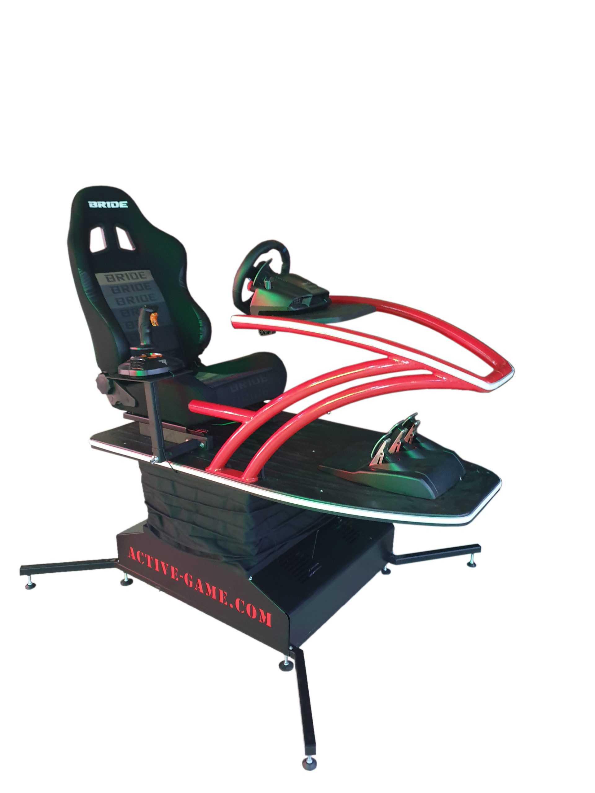 Supersim_red_2 Full motion flight simulator 2dof, 3dof,4dof,6dof motion platform